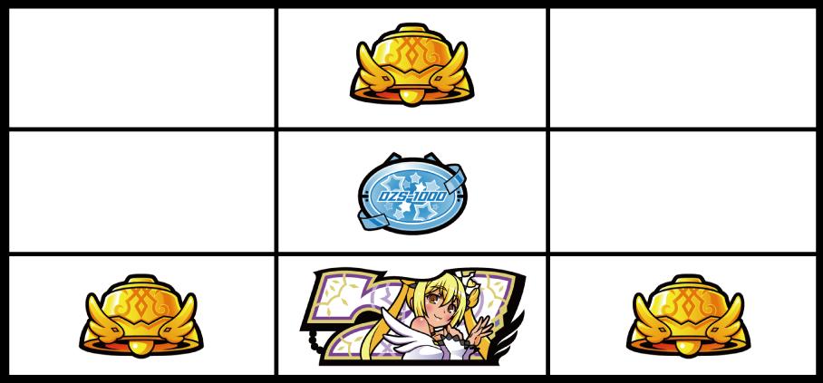 パチスロ1000ちゃんの強チャンス目(リプレイ)