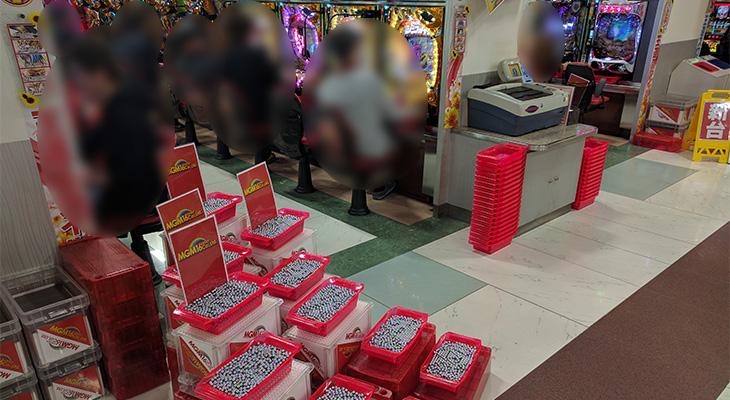 MGM水戸店のCRフィーバー戦姫絶唱シンフォギア4月6日