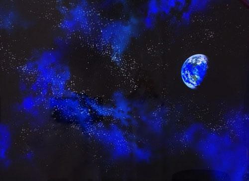 《シャアスロット》シャア専用パチスロ 逆襲の赤い彗星の宇宙+地球背景