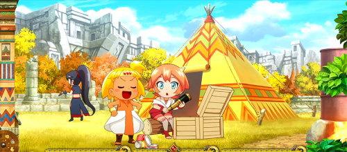 もっと!クレアの秘宝伝 女神の歌声と太陽の子供達の秋ステージの画面