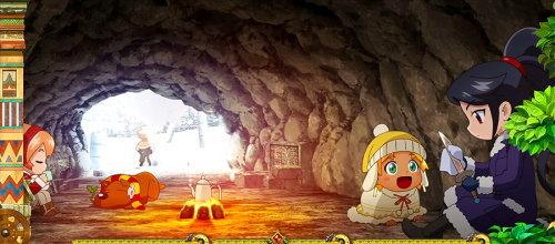 もっと!クレアの秘宝伝 女神の歌声と太陽の子供達の冬ステージの画面