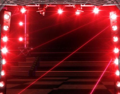 パチスロ アイドルマスター ミリオンライブ!のステージ(赤)の画面