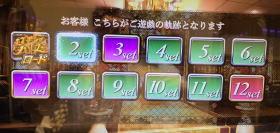 パチスロラブ嬢2のメニュー画面にある周期表の画像