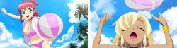 マジカルハロウィン7のビーチボール演出/みことの頭にボール当たる