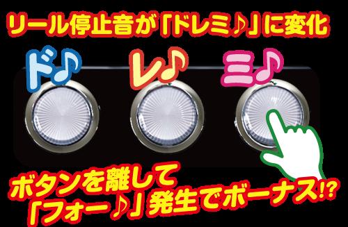 ぱちスロ 沖ハナ-30のドレミ演出