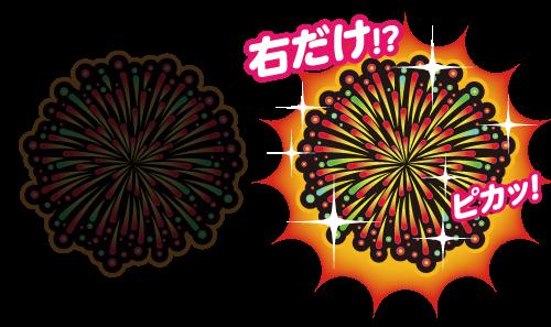ぱちスロ 沖ハナ-30の点灯パターン