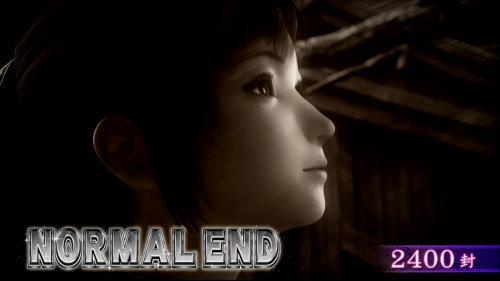 パチスロ零のエンディング到達時の終了画面「ノーマルエンド」