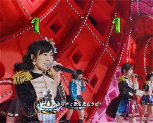 ぱちんこ AKB48 ワン・ツー・スリー!! の1図柄テンパイの画像