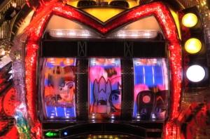 パチンコCRマッハGoGoGo GP7000のミッチー登場時の画像