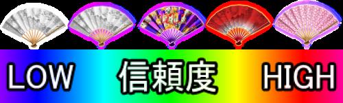 パチンコP春一番~恋絵巻~MBの扇子プロフィール予告信頼度