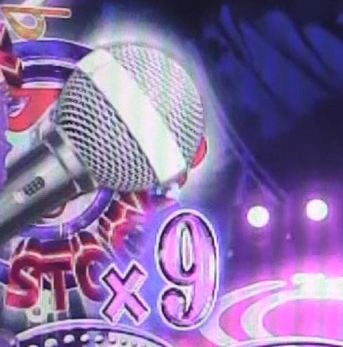 パチンコP中森明菜・歌姫伝説~THE BEST LEGEND~1/99verのパープルライブモードマイクストックの画像
