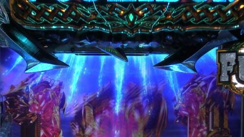 パチンコPアナザーゴッドポセイドン-怒濤の神撃-のロゴフラッシュ