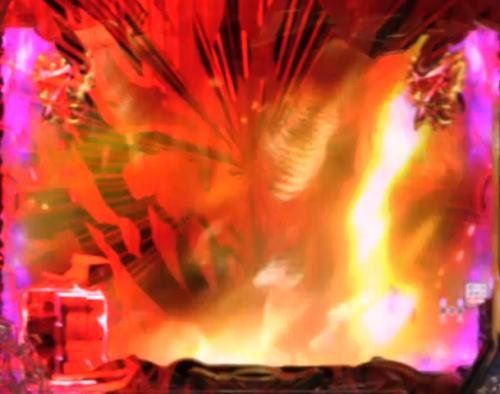 パチンコPデビルマン~疾風迅雷~の導光板赤発光