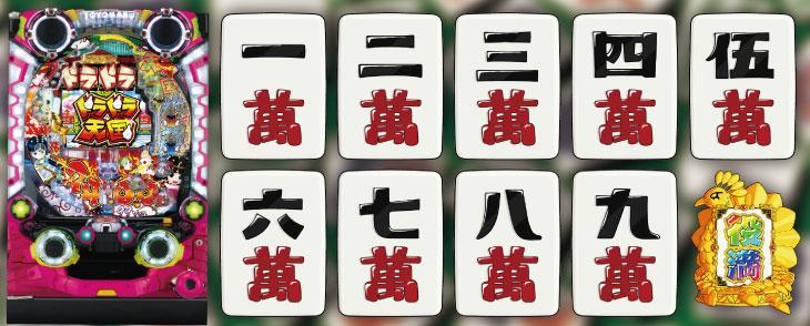 P絶超電役ドラドラ天国2400-99Ver.の筐体、図柄画像