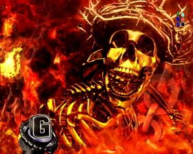 パチンコPフィーバーゴルゴ13疾風マシンガンver.の死神ジャッジメント画像