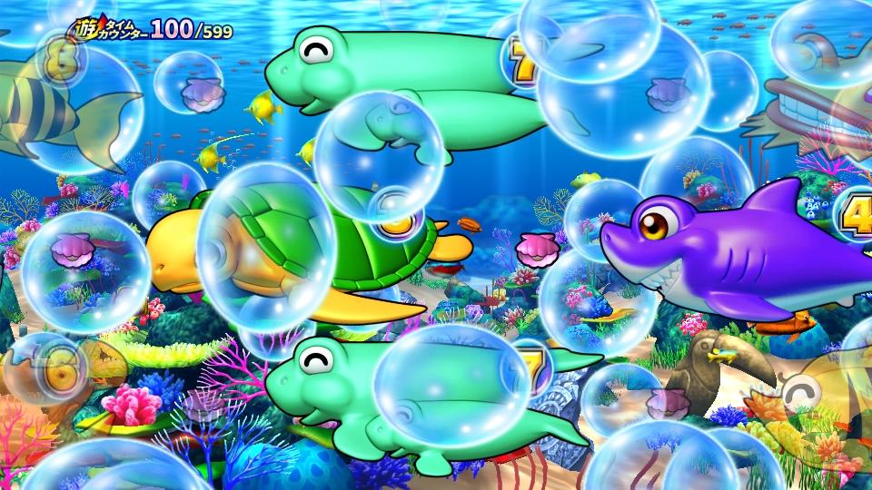パチンコPギンギラパラダイス 夢幻カーニバルHCAの泡予告画像