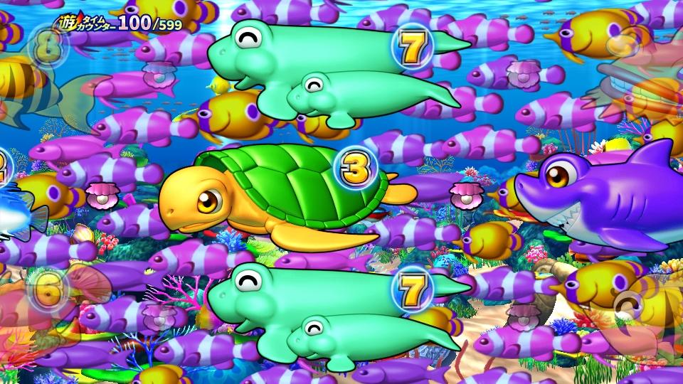 パチンコPギンギラパラダイス 夢幻カーニバルHCAの魚群予告画像