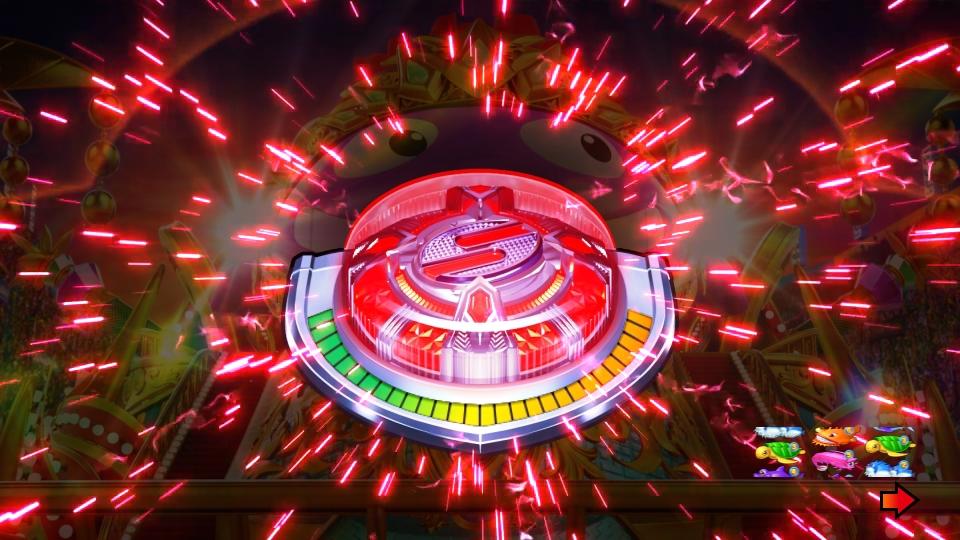 パチンコPギンギラパラダイス 夢幻カーニバルHTKのカーニバルチャレンジボタン画像
