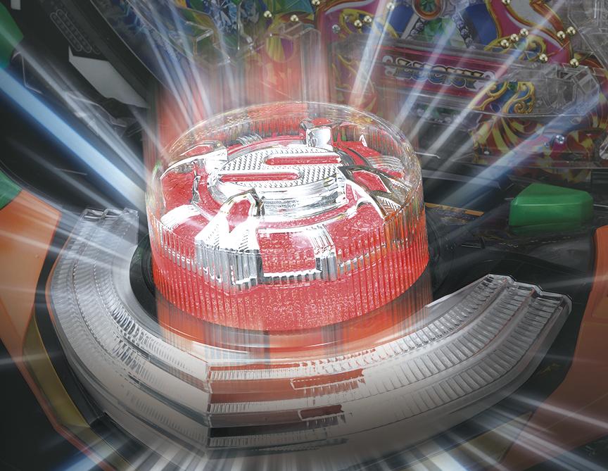 パチンコPギンギラパラダイス 夢幻カーニバルHTKのサンライズボタンの画像