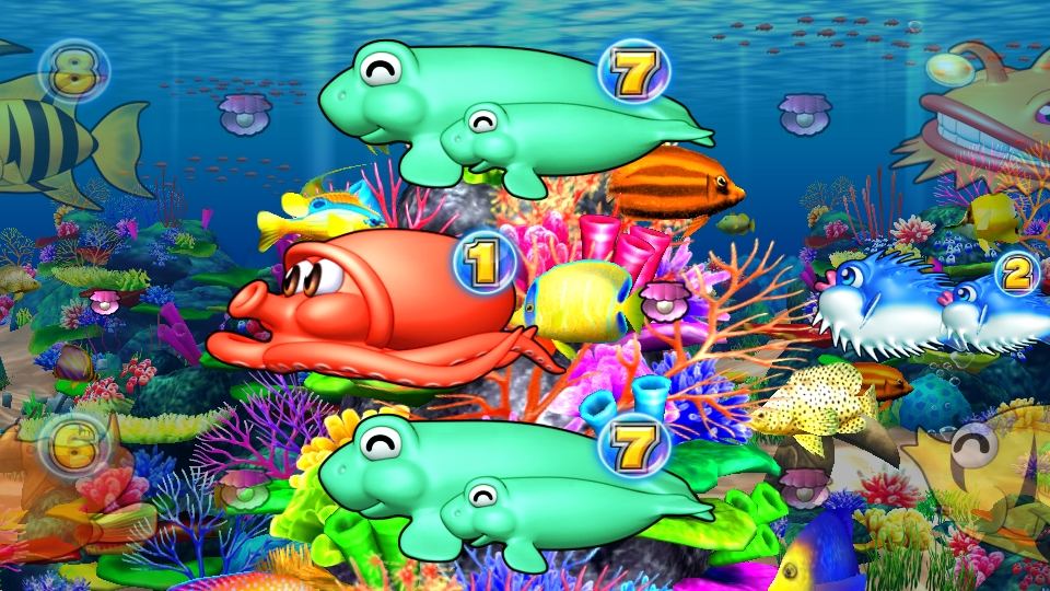 パチンコPギンギラパラダイス 夢幻カーニバルHTKのサンゴ礁リーチ画像