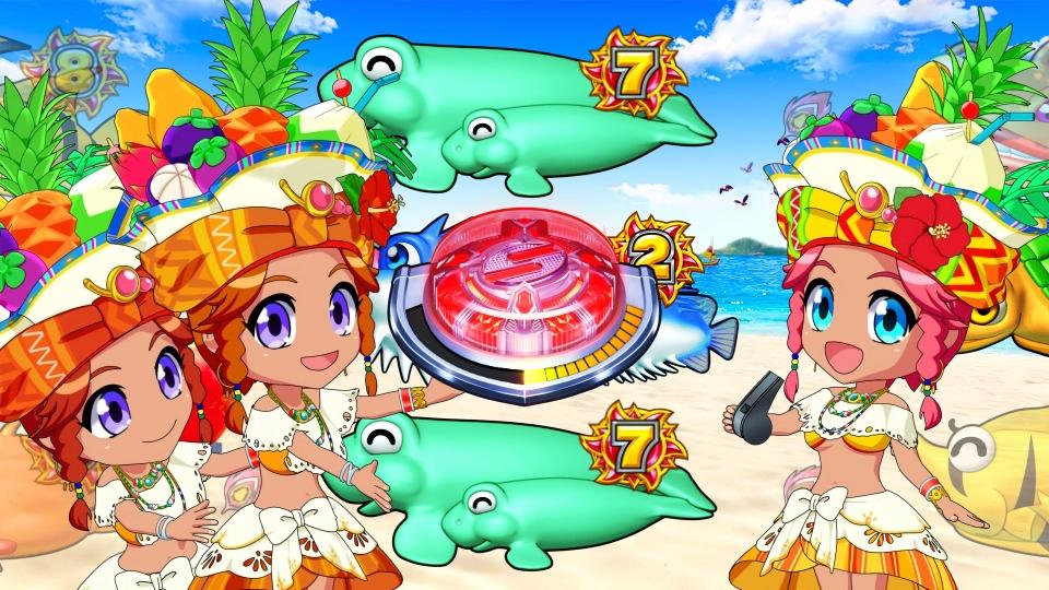 パチンコPギンギラパラダイス 夢幻カーニバルHTKのフルーツ姫1画像