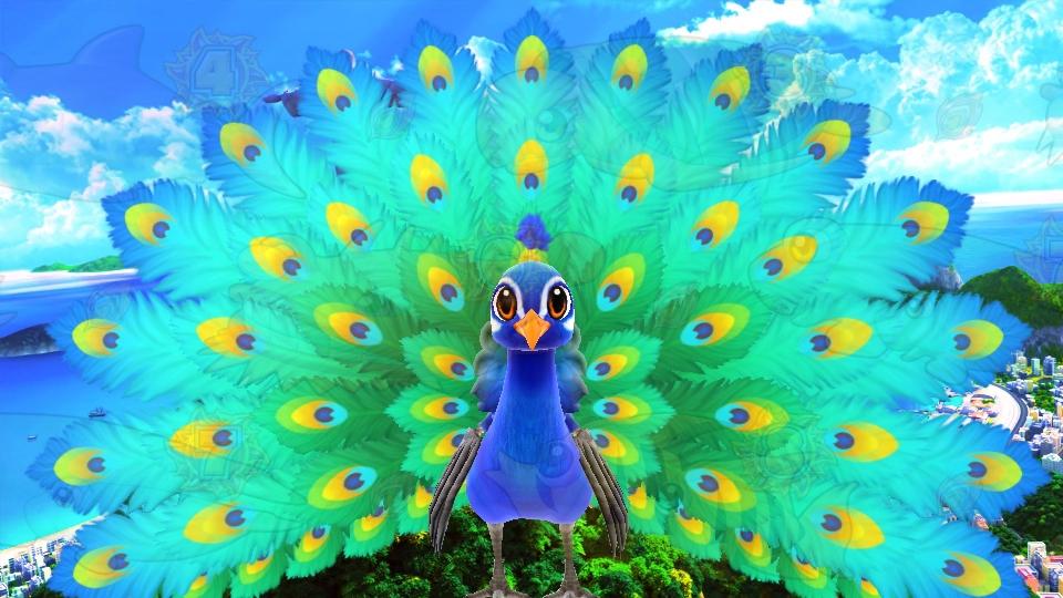 パチンコPギンギラパラダイス 夢幻カーニバルHTKの孔雀通過画像