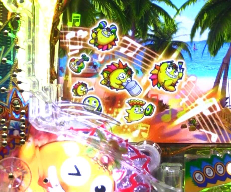 パチンコPギンギラパラダイス 夢幻カーニバルHTKの効果音変化画像