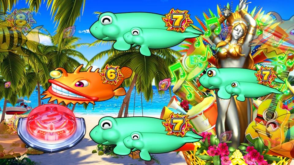 パチンコPギンギラパラダイス 夢幻カーニバルHTKのリズミカル画像