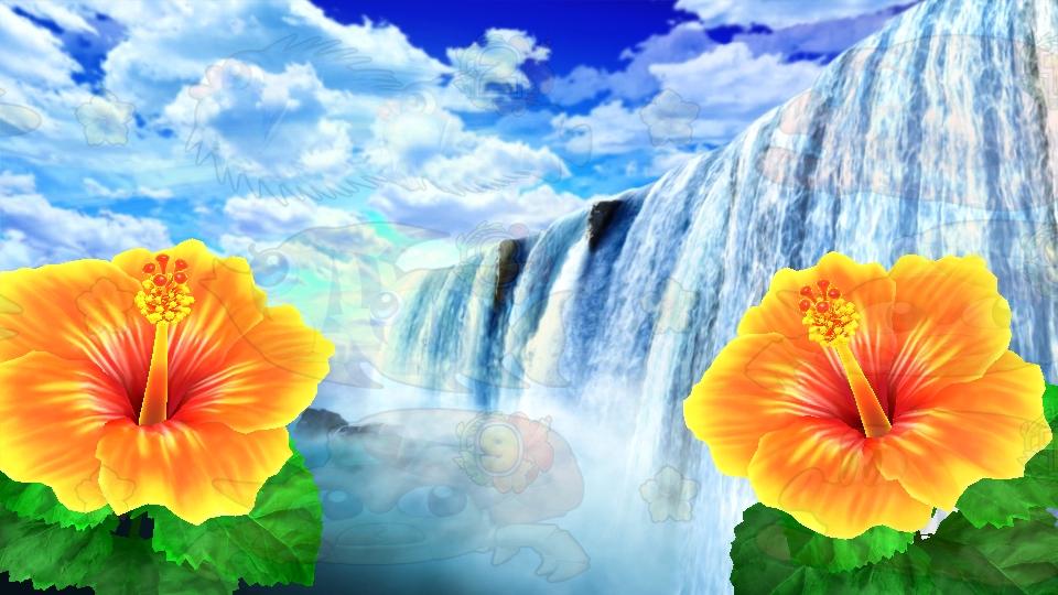 パチンコPギンギラパラダイス 夢幻カーニバルHTKの滝変化画像