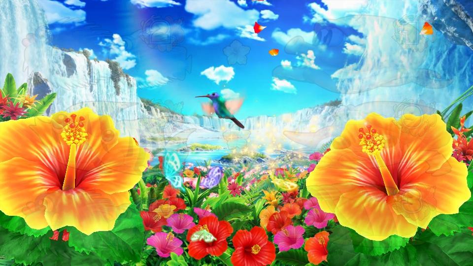 パチンコPギンギラパラダイス 夢幻カーニバルHTKの告知鳥画像