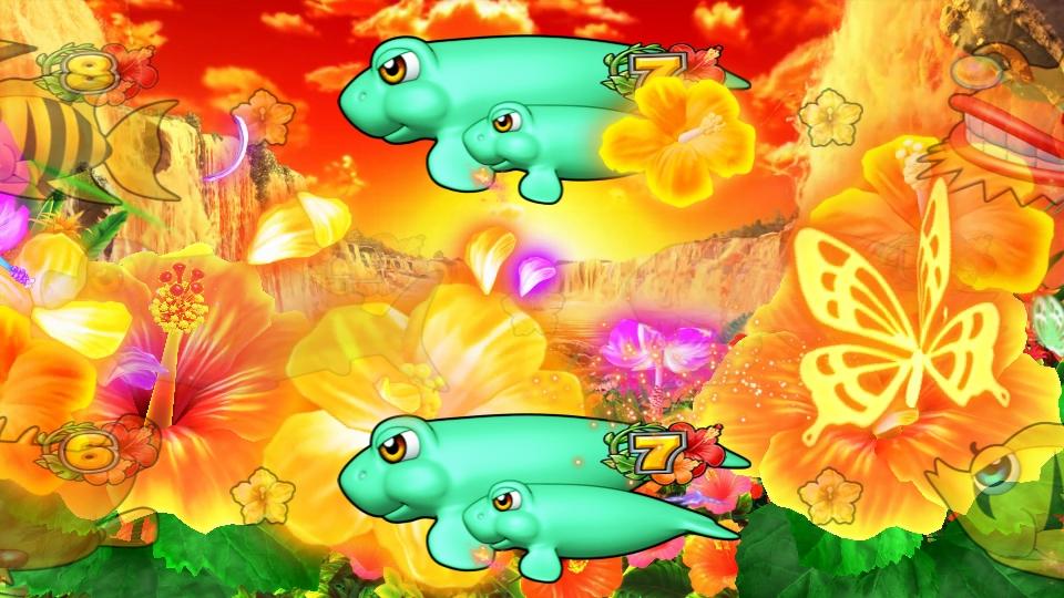 パチンコPギンギラパラダイス 夢幻カーニバルHCAのハイビスカスリーチ画像