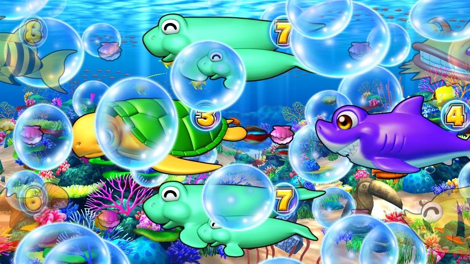 パチンコPギンギラパラダイス 夢幻カーニバルHTKのギンギラチェンジ泡画像