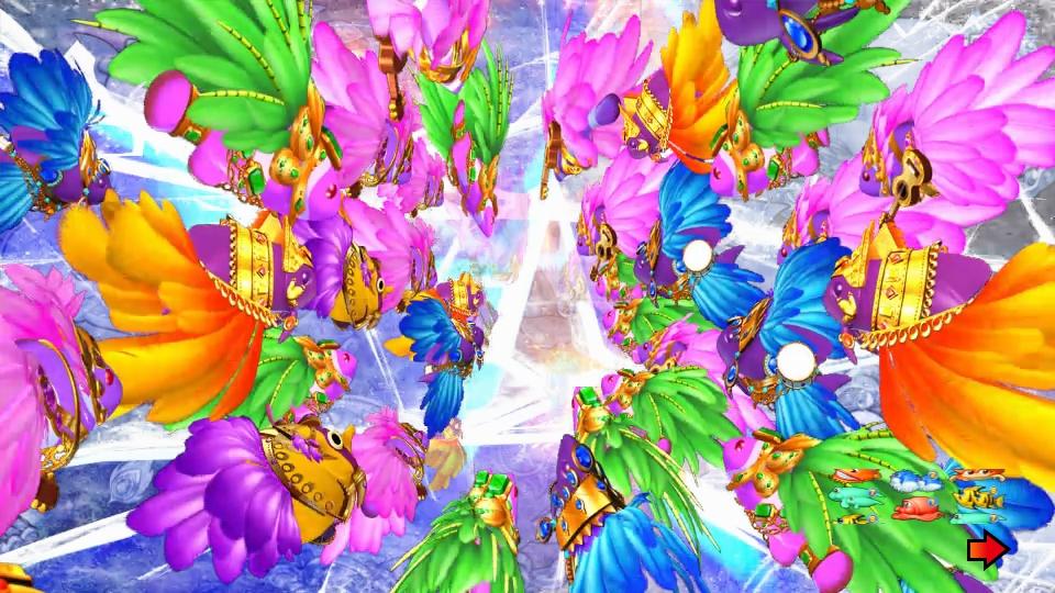 パチンコPギンギラパラダイス 夢幻カーニバルHTKの手前から奥画像