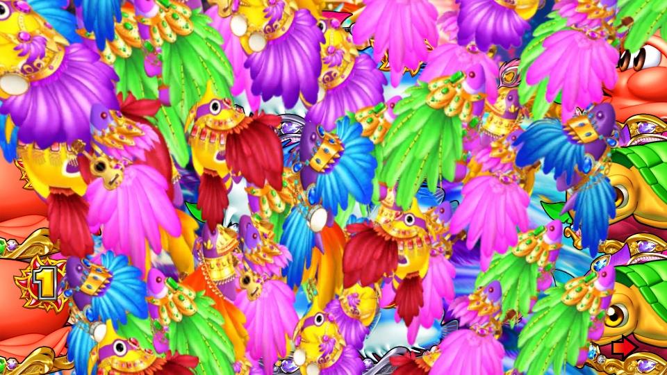 パチンコPギンギラパラダイス 夢幻カーニバルHTKの下から上画像