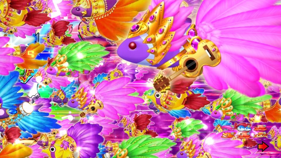 パチンコPギンギラパラダイス 夢幻カーニバルHTKの右から左画像