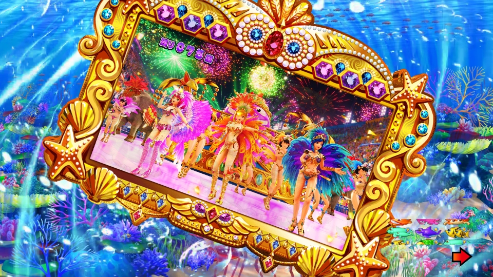 パチンコPギンギラパラダイス 夢幻カーニバルHTKのビジョンバック画像