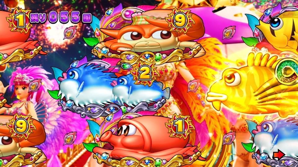 パチンコPギンギラパラダイス 夢幻カーニバルHTKのカサゴ煽り画像