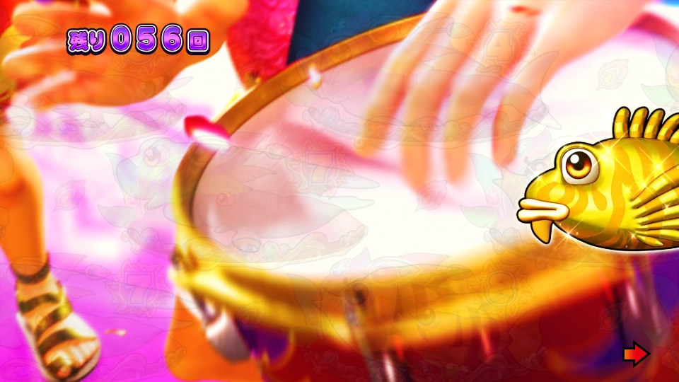 パチンコPギンギラパラダイス 夢幻カーニバルHTKのカサゴ顔出し画像