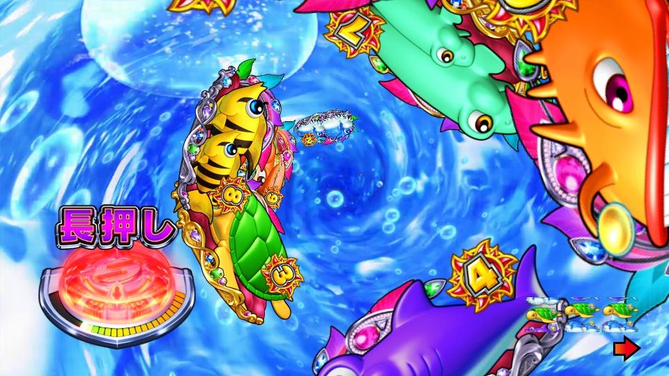 パチンコPギンギラパラダイス 夢幻カーニバルHTKのサイクロンリーチ画像