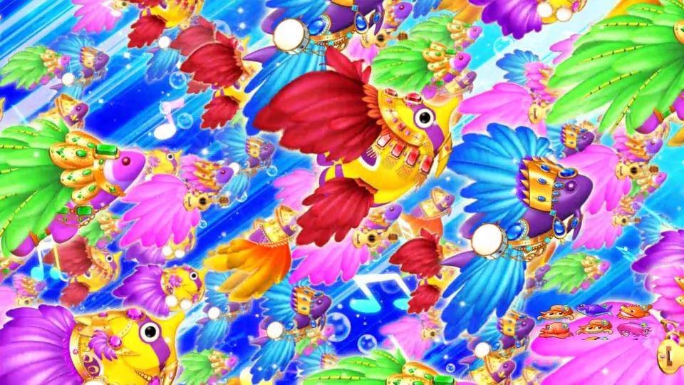 パチンコPギンギラパラダイス 夢幻カーニバルHTKのリザルト魚群画像