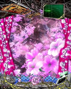 パチンコP学園黙示録ハイスクール・オブ・ザ・デッド2 弾丸319Ver.の桜花乱舞ゾーン画像