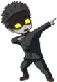 パチンコP学園黙示録ハイスクール・オブ・ザ・デッド2 弾丸319Ver.の保留変化シャキーン!な決めポーズ画像