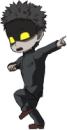 パチンコP学園黙示録ハイスクール・オブ・ザ・デッド2 弾丸319Ver.の保留変化ランニングマンのようなダンス画像