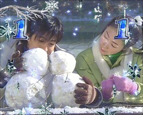 パチンコぱちんこ 冬のソナタ FOREVERの雪だるまリーチ