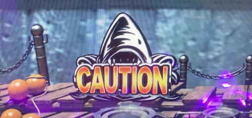 パチンコP JAWS3 SHARK PANIC~深淵~のCAUTION画像
