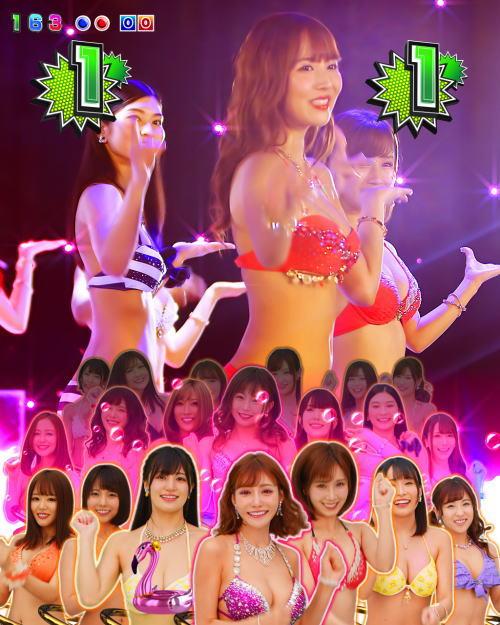 パチンコPジューシーハニー3のパーティーSPリーチの画像