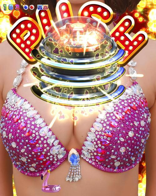 パチンコPジューシーハニー3のダイナマイトPUSHの画像