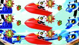 パチンコP安心ぱちんこキレパンダinリゾートの奇数図柄揃い画像