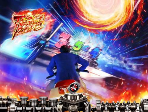 パチンコぱちんこ 仮面ライダー GO-ON LIGHTのTURBOゾーン画像