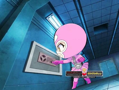 パチンコぱちんこ 仮面ライダー GO-ON LIGHTのハート戦闘員アイキャッチ予告2画像